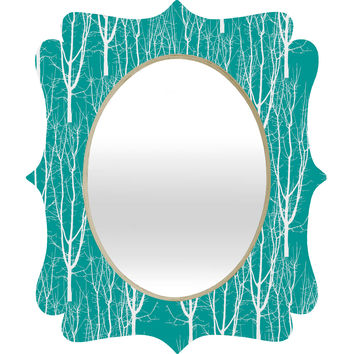 Karen Harris Citrus 2 What Forest Quatrefoil Mirror