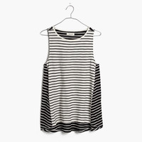 Forward-Seam Tank Top in Stripe