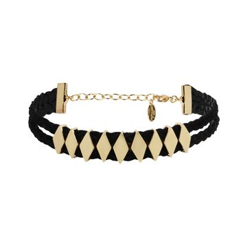 Switch Positions Choker in Black and Gold