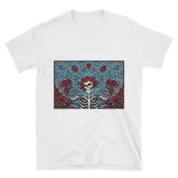 GRATEFUL DEAD SHIRT - Gifts For Deadheads - Skull & Roses T-shirt - Psychedelic Tees, Boyfriend Gift, Girlfriend Gift, Deadhead Gifts
