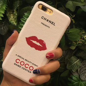 CHANEL tide brand iPhone8plus protective cover 7plus couple models F-OF-SJK 4