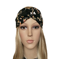 Black Turban headband - Twisted headbands for women