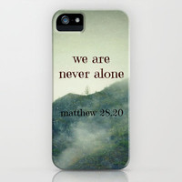 We Are Never Alone iPhone & iPod Case by Shawn Terry King CLICK THRU for ALL Products including SAMSUNG GALAXY!!!
