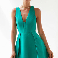 C/meo Collective The Nights Plunging Mini Dress - Urban Outfitters
