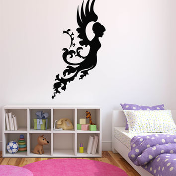 Wall Stickers Vinyl Decal Fairy Angel Wings Nursery Decor Murals Unique Gift (ig185)
