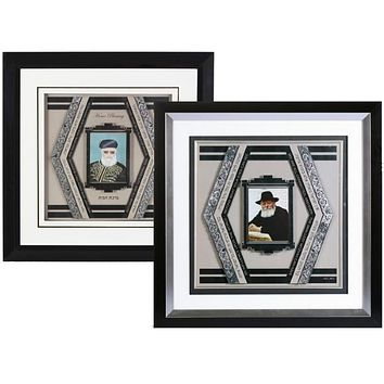 3D Framed Rabbi Art