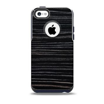 The Black Wood Texture Skin for the iPhone 5c OtterBox Commuter Case