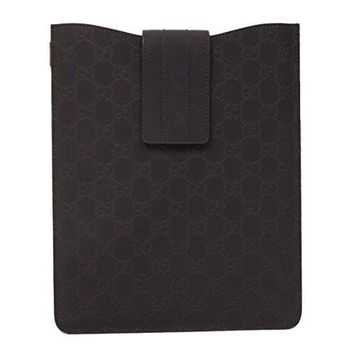Gucci Navy Blue GG Logo Rubberized Guccissima Leather Ipad Case