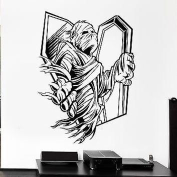 Wall Decal Zombie Corpse Coffin Mummy Horror Fear Grave Vinyl Stickers Unique Gift (ed097)