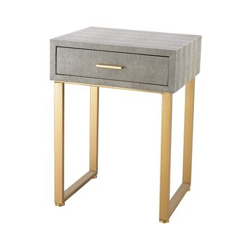 3169-025S Beaufort Point Accent Side Table With Drawer