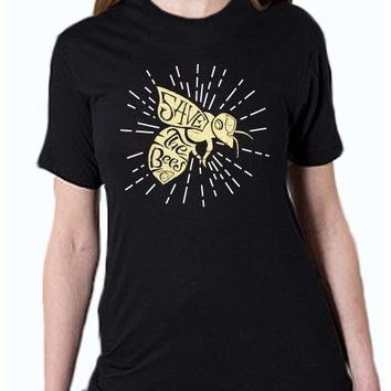"""Save the Bees - Starburst"" Unisex T-Shirt (Organic Cotton)"