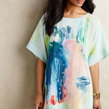 Painted Silk Tunic Dress
