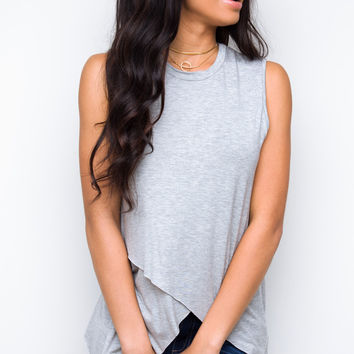 Angie Top - Gray