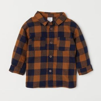 Checked Shirt - Brown - Kids | H&M US