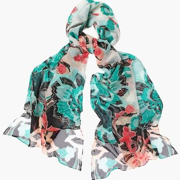Chico's Convertible Floral Scarf