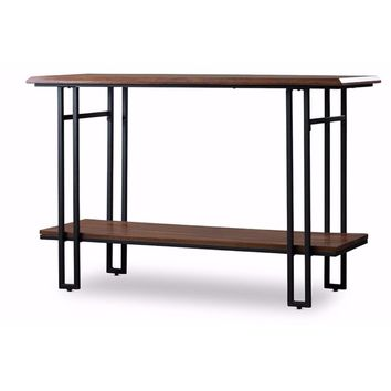 Baxton Studio Newcastle Wood and Metal Console Table -Baxton Studio