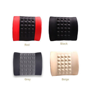 Car Electric Massage Cushion lumbar Massage Car Seat Back Cushion Waist support Random Color   black