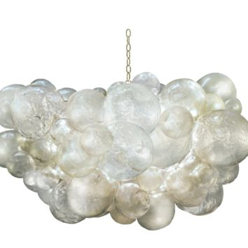 Oly Studio Hand-blown Glass Cloud Chandelier