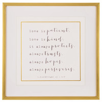 1 Corinthians 13:4-7 Framed Wall Decor | Hobby Lobby | 5015482