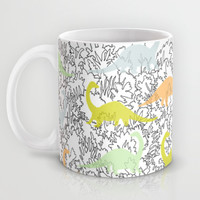 Dinosaur Ghosts Pattern Mug by Marie Gardeski