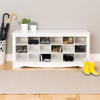 Winslow White Shoe Storage Cubbie Bench | Overstock.com Shopping - The Best Deals on Benches