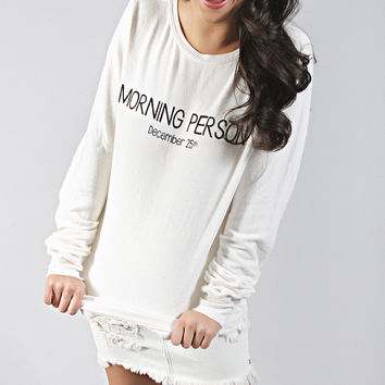 wildfox: baggy beach jumper - morning person