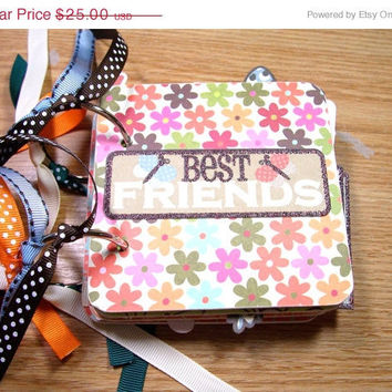 CIJ SALE Best Friends Premade Mini Scrapbook Album