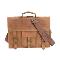Mac&Lou Ignatius Leather Briefcase - Natural Brown
