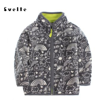SVELTE Brand 2017 Spring Autumn Winter Kids Fur Coats Warm Boys Jackets fashion Thick Fleece Outerwear Enfant Clothes