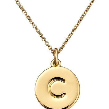 CREYV2S kate spade new york Gold-Tone Alphabet Pendant Necklace, 18'