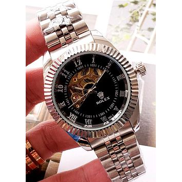 Rolex 2019 new high-end fashion men and women mechanical watch Black