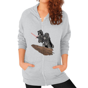Star Wars Lion King Zip Hoodie (on woman) Shirt
