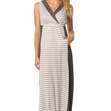 Majamas The Weekend Hooded Maternity Nursing Maxi Dress