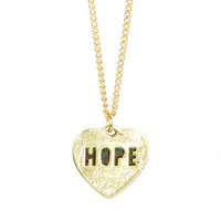 Hope Heart Charm Necklace