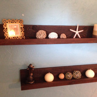 Rustic Floating Shelves, Set of Two Floating Sheves, Picture Shelves