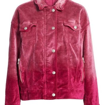 Free People Velvet Trucker Jacket | Nordstrom