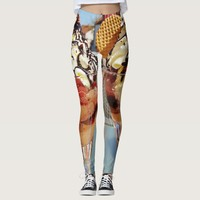 ICE CREAM SUNDAES LEGGINGS