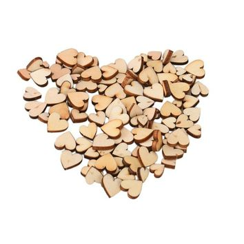 Wood Wooden Love Heart Wedding Table Scatter Decoration