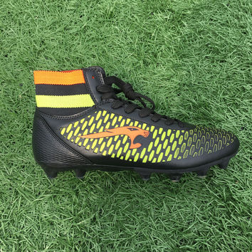 Men High Ankle Soccer Shoes Football Boots Boys Kids Sport  Soccer Cleats Football Sock Boots Size 33-44