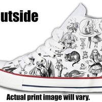Alice's Adventures In Wonderland Custom Converse All Stars
