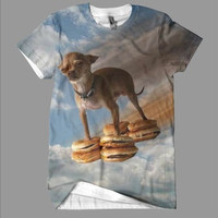 Flying Hamburger Dog