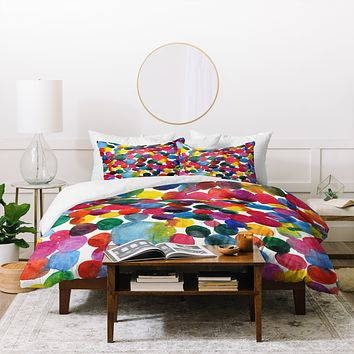 Joy Laforme Watercolor Polka Dot II Duvet Cover