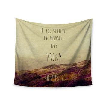 """Ingrid Beddoes """"Believe"""" Desert Quote Wall Tapestry"""
