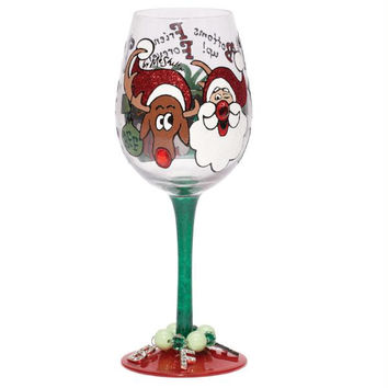 4  Wine Glasses With Charms - Each Design Comes With Coordinating And Removable Wine Charms