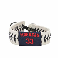 Gamewear MLB Leather Wrist Band - Minnesota Twins - Justin Morneau