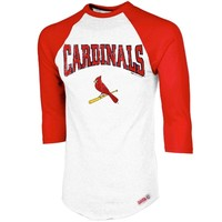 Stitches St. Louis Cardinals Home Run Three-Quarter Sleeve Raglan T-Shirt - White/Red