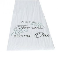 Hortense B. Hewitt Wedding Accessories Fabric Aisle Runner, Two Shall Become One, 100-Feet Long:Amazon:Home & Kitchen