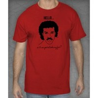 Lionel Richie Inspired - Hello - Funny - UNISEX ADULT Tee Shirt