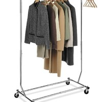 DecoBros Supreme Commercial Grade Clothing Garment Rack, Chrome