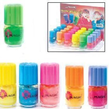 Glow in the Dark Nail Polish - 6 Colors - 24 PACK